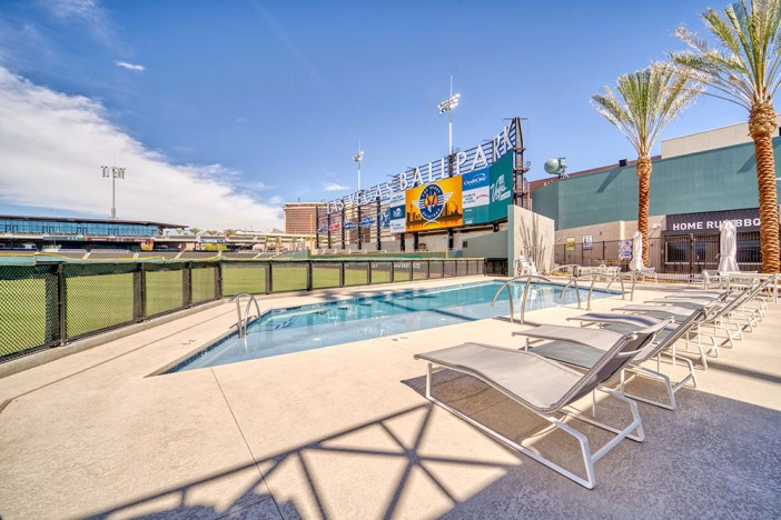 Las Vegas Ballpark sideline pool
