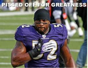 AP is taking a page out of Ray Lewis' book (Image from healthyhabits.ca)