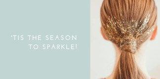 Glitter Hairstyle Idea for new year's eve - 2019