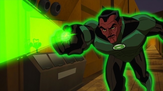 "Sinestro pursues a murderer in ""Green Lantern: First Flight,"" the all-new DC Universe animated original movie set for distribution July 28, 2009 by Warner Home Video."