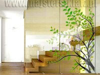 Ścianki szklane ze wzorem