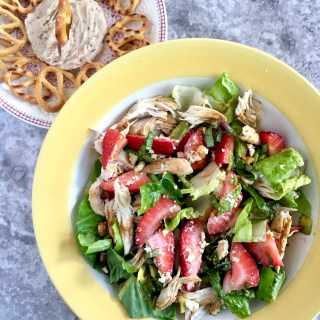 Balsamic Strawberry Chicken Salad