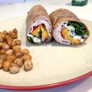 Turkey {or Chicken} Basil Peach Wrap