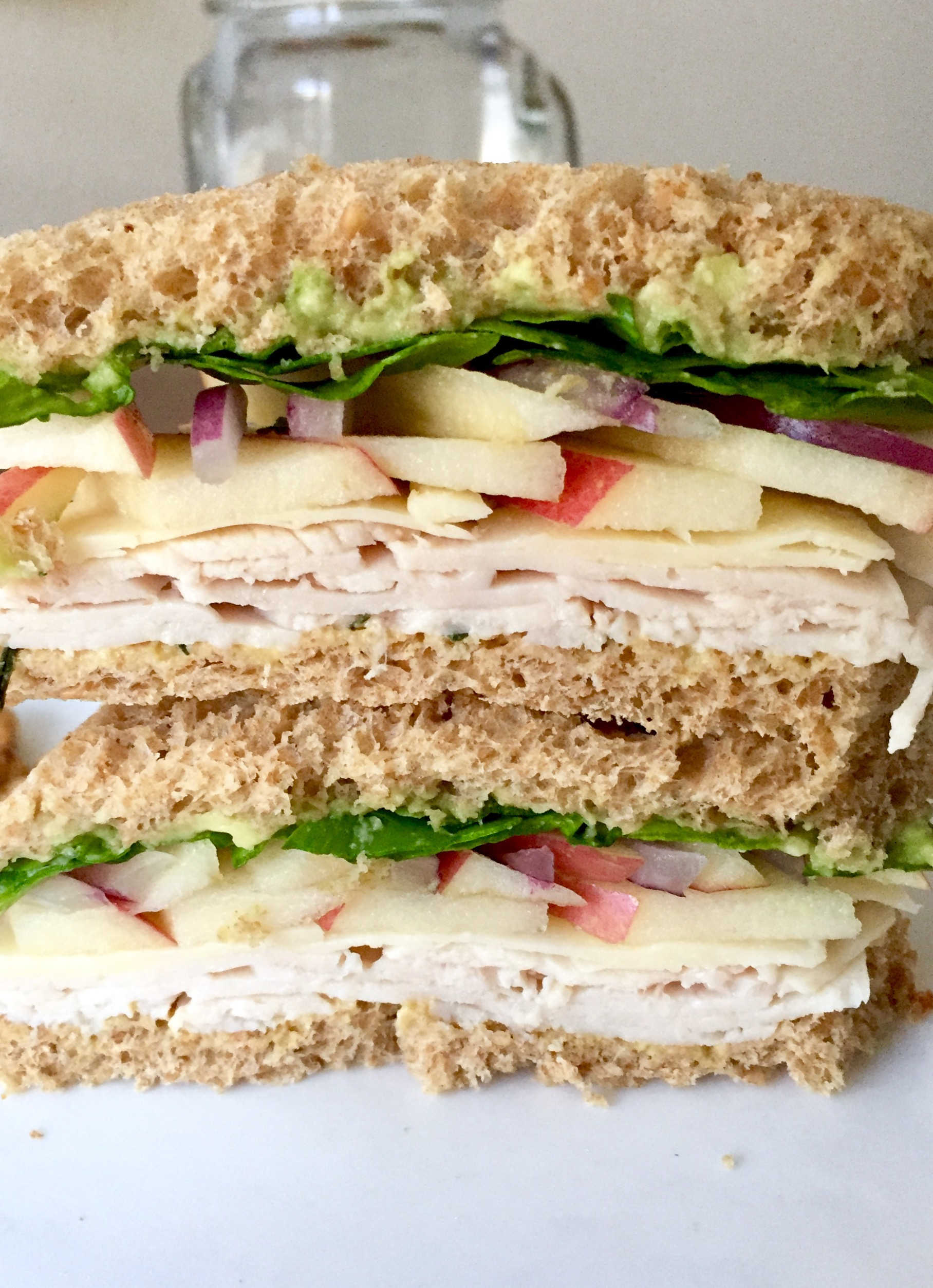 Turkey Apple White Cheddar Sandwich
