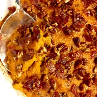 Bourbon Bacon Pecan Sweet Potato Casserole