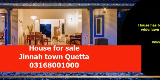 Luxury bungalow available for sale at Jinnah town.