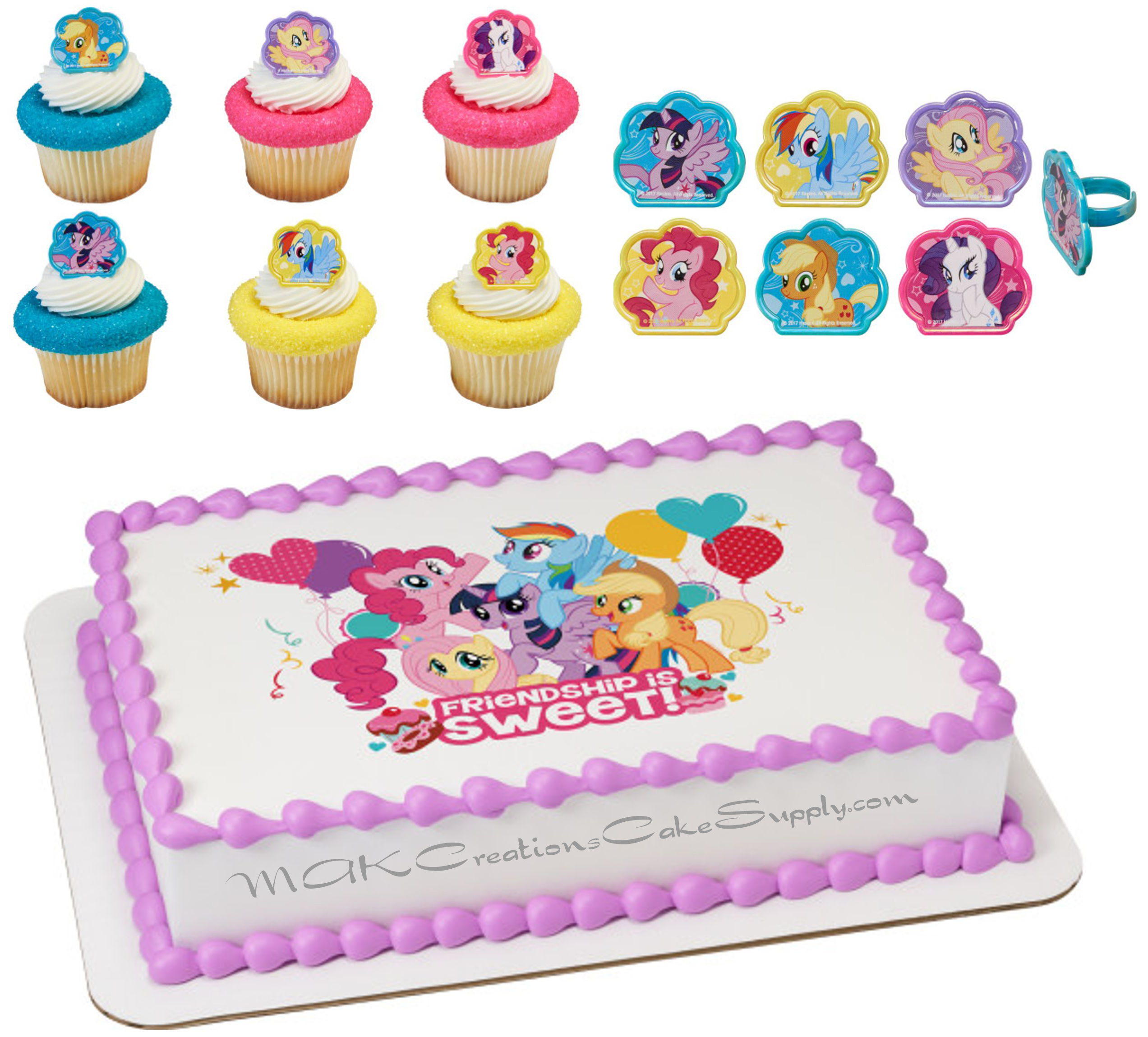 My Little Pony Edible Cake Topper Amp Cupcake Toppers