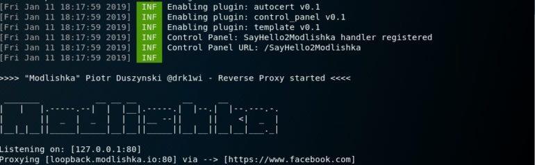 Запуск сканирования и атаки с помощью фишингового сайта