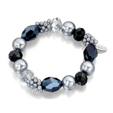 Fiorelli Midnight Blue and Silver Crystal Beaded Bracelet