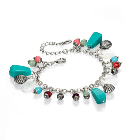 Fiorelli Blue and Red Beaded Boho Bracelet