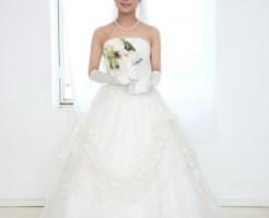 上半身脱毛した花嫁