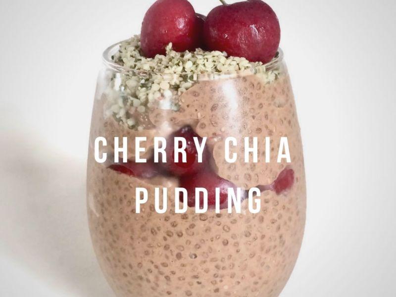 Cherry Chia Pudding