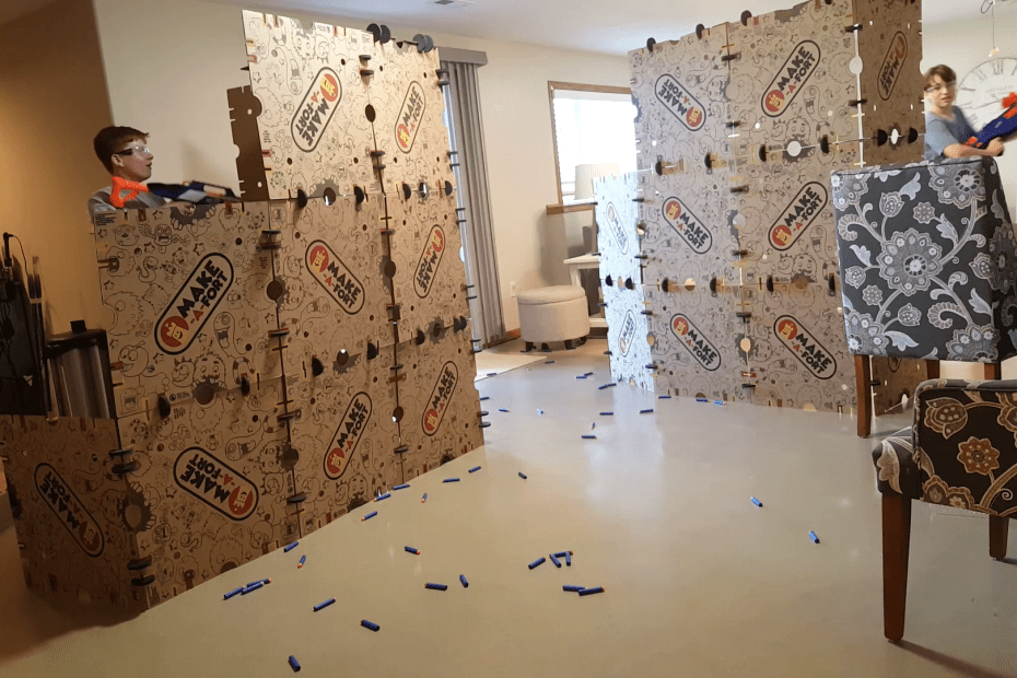 Nerf fort battle