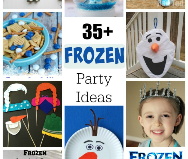 Crafts Games And Treats For A Frozen Birthday Party