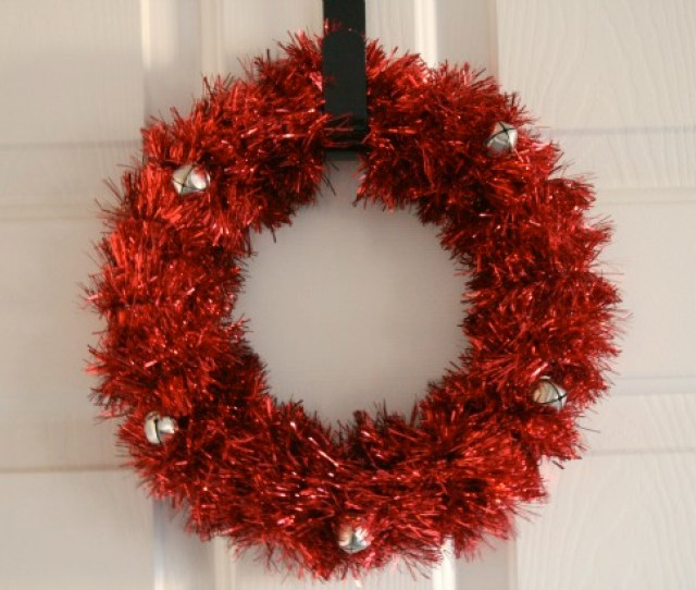 Supplies For Holiday Tinsel Wreath