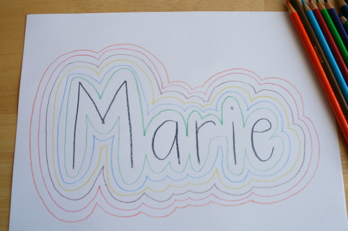 Tracing The Letters In Your Name Make And Takes