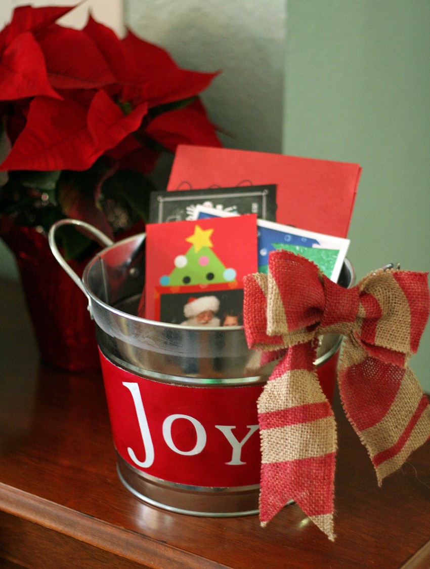 DIY Christmas Joy Bucket And Burlap Bow Make And Takes