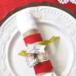 Up Cycled Christmas Napkin Rings Place Cards Make And Takes