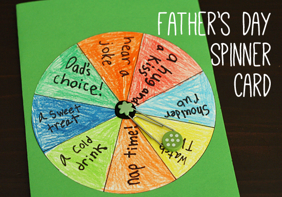 Celebrate Dad With A Fun DIY Spinner Card Make And Takes