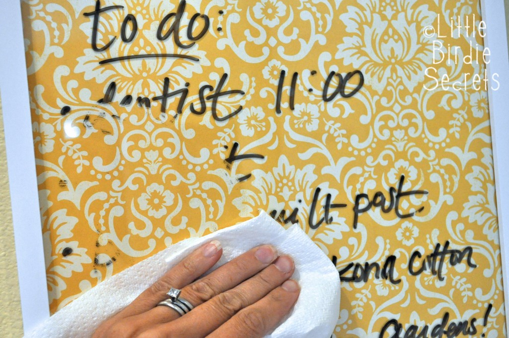 Wipeable to do list