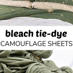 Diy Reverse Tie Dye Sheets With Bleach Make And Takes