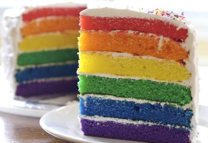 Rainbow Birthday Cake Recipe From Scratch Makebetterfoodcom