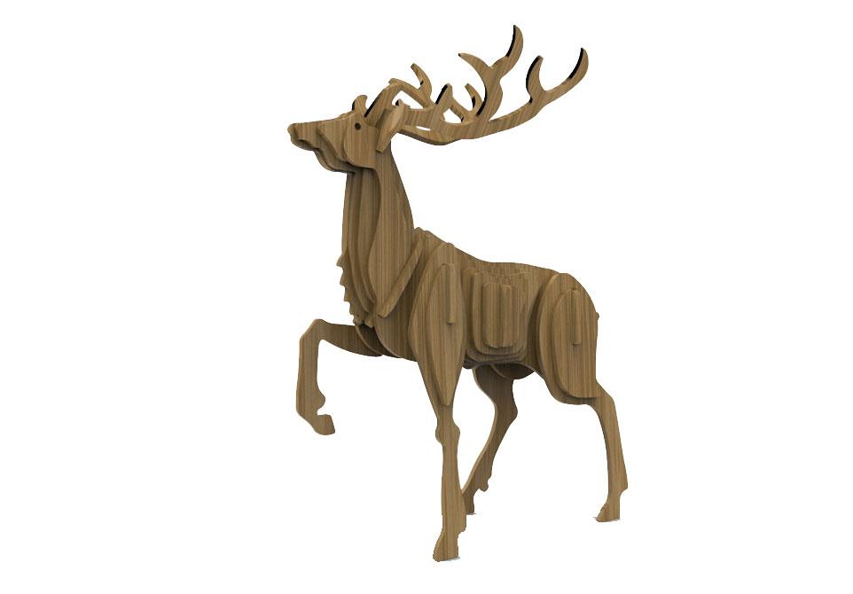 Proud Stag Deer Wild