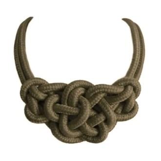 dónde comprar collar de cuerda con nudos verde