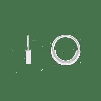 Pendientes de aro en plata de ley con diseño asimétrico