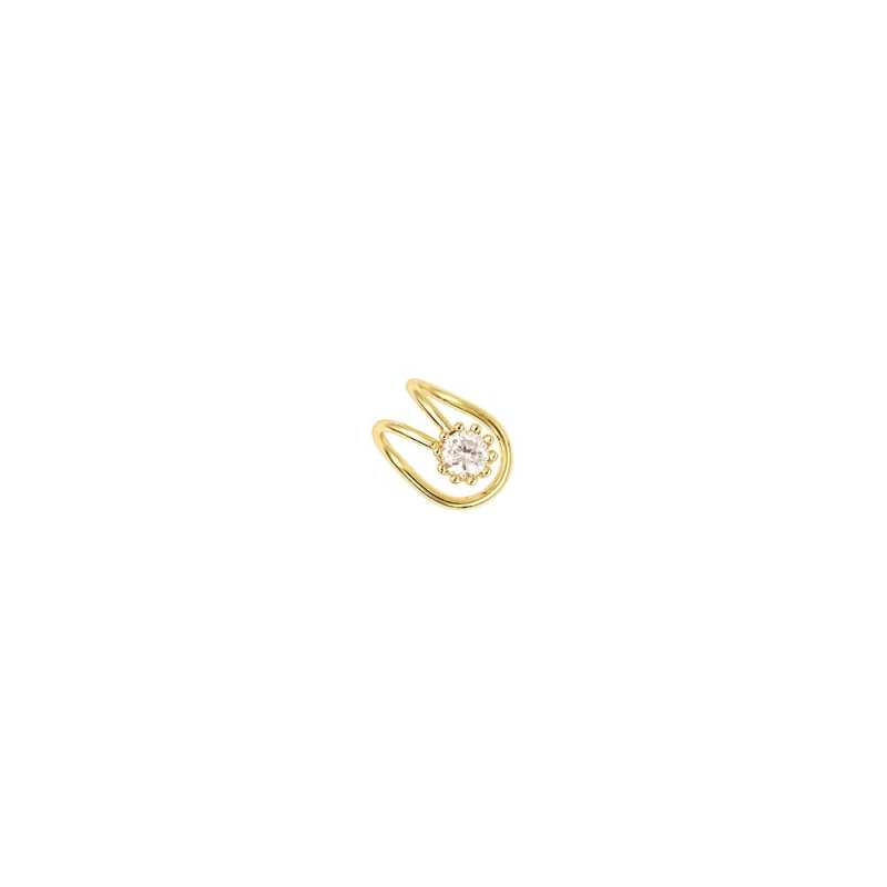 Pendiente piercing falso para la oreja en dorado