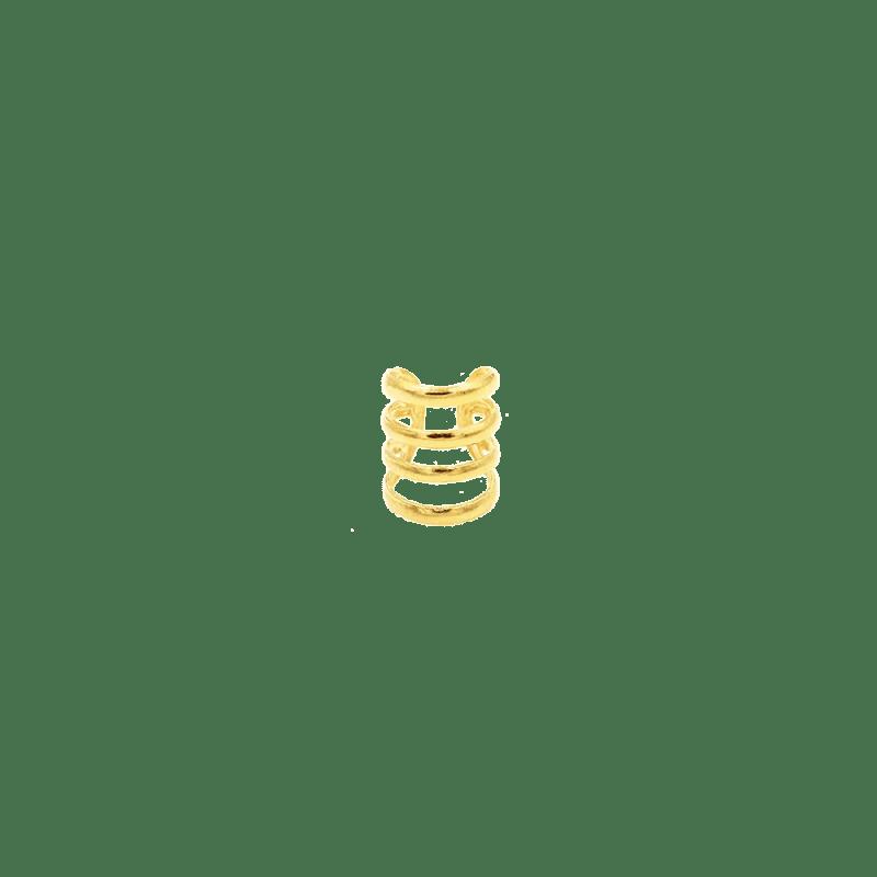 Pendiente de cuatro aros para el cartílago en dorado