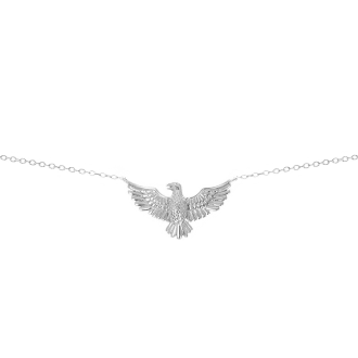 Collar con colgante en forma de águila en plata de ley