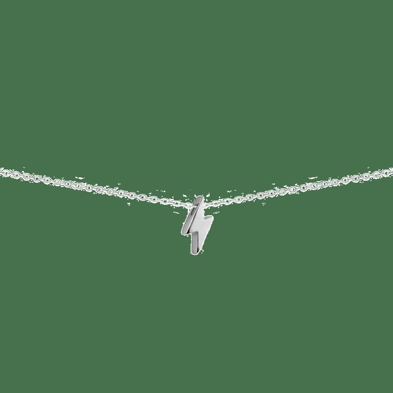 Collar con colgante en forma de rayo en plata de ley