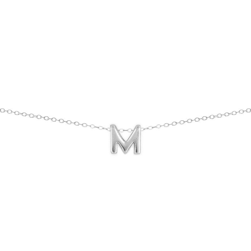 590f78712b93 Collar con colgante letra personalizada en plata de ley