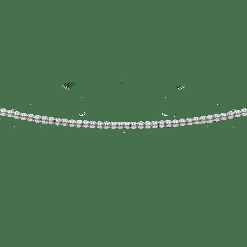 Collar estilo gargantilla de bolitas en todo el perímetro en plata de ley