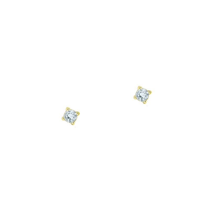Pendientes mini con cristal azul agua