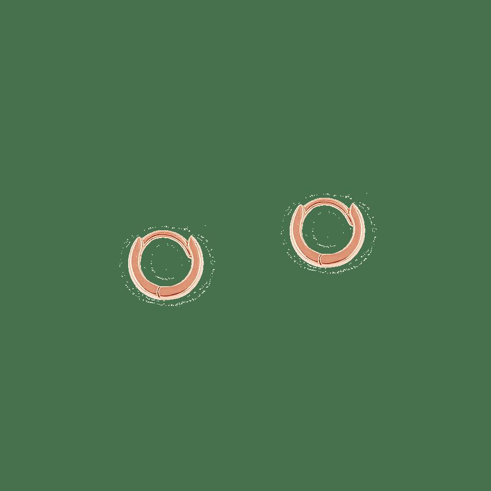 f0b259ba85ba Pendientes de aro pequeños bañados en oro rosa