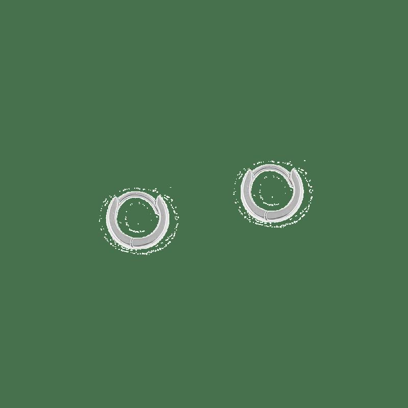 Pendientes de aro en plata de ley de 10mm con diseño articulado y cierre oculto