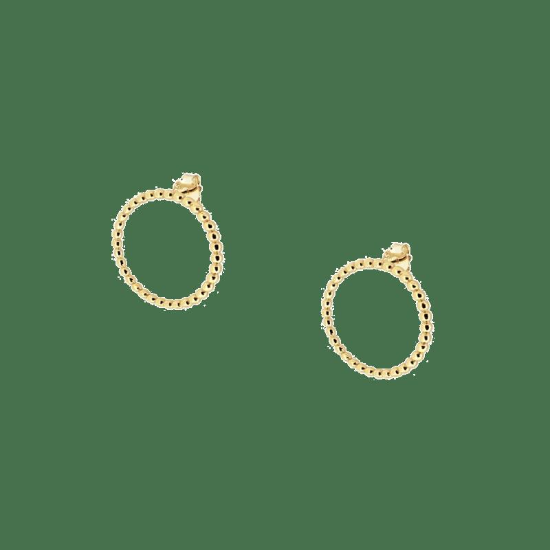 Pendientes de aro frontal bañados en oro