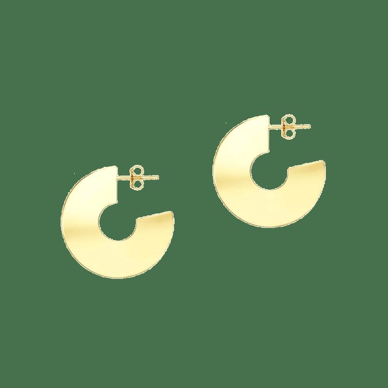 Pendientes de aro ancho plano en vermeil