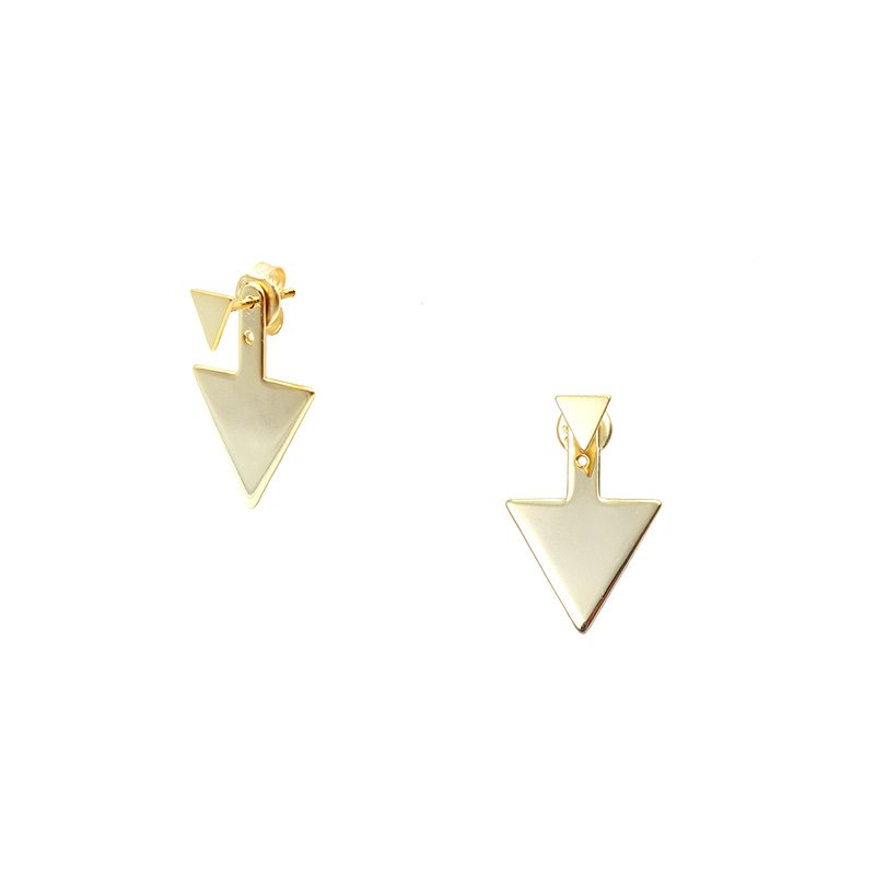 pendientes estilo ancla con diseño de triángulos