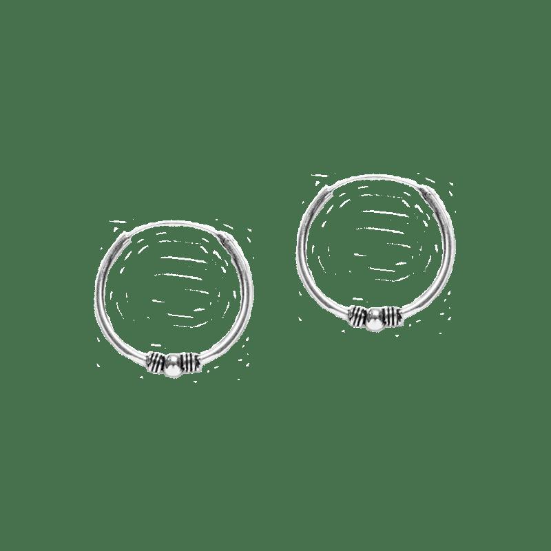 Pendientes de aro estilo bali de 20mm en plata de ley