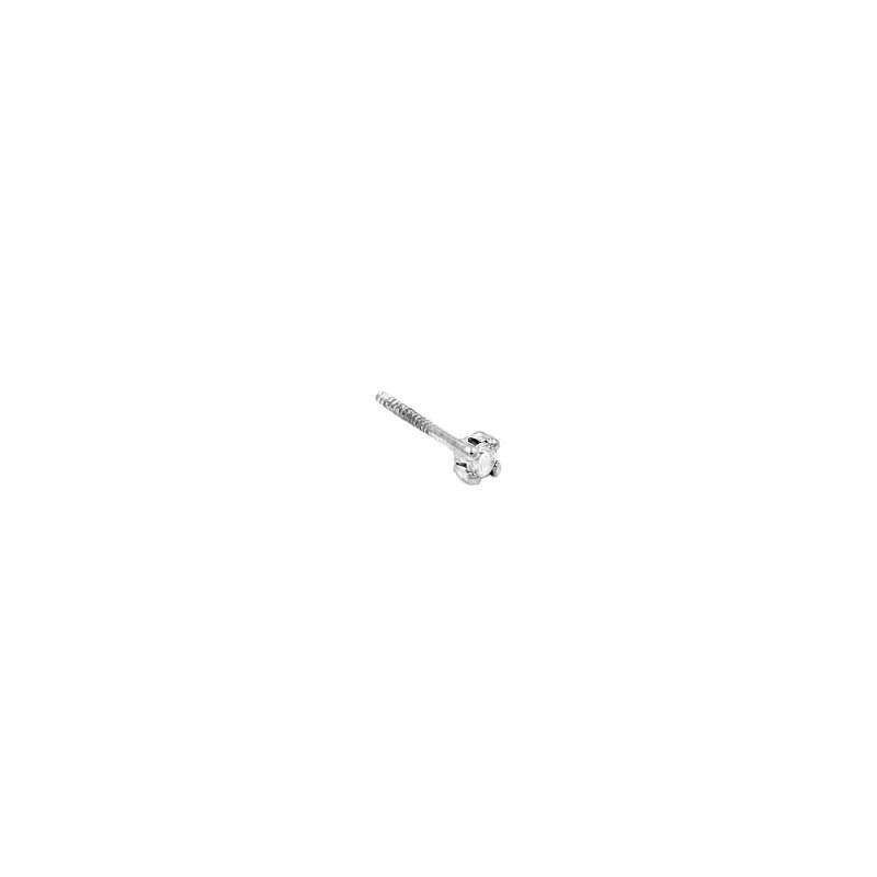 Pendiente bebé con circonita engarzada de 2mm en plata