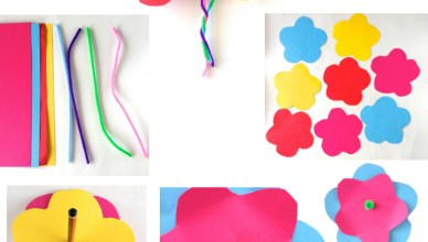 Easy Cardboard Flowers for the kids to make!