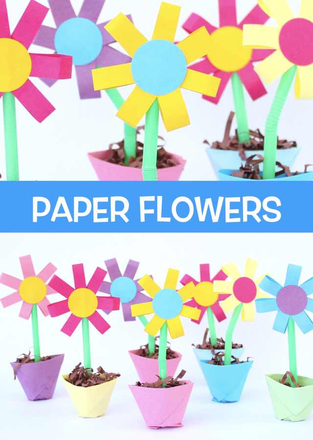 How to make paper flowers and origami flower pots make film play these sweet flowers and flower pots are quite simple to make and they look fabulous as a spring decoration mightylinksfo