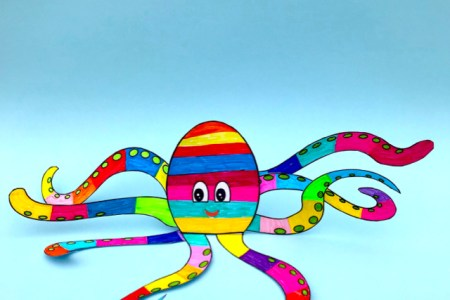 Paper Octopus Toy