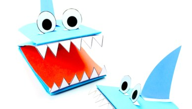 How to Make a Shark Paper Puppet
