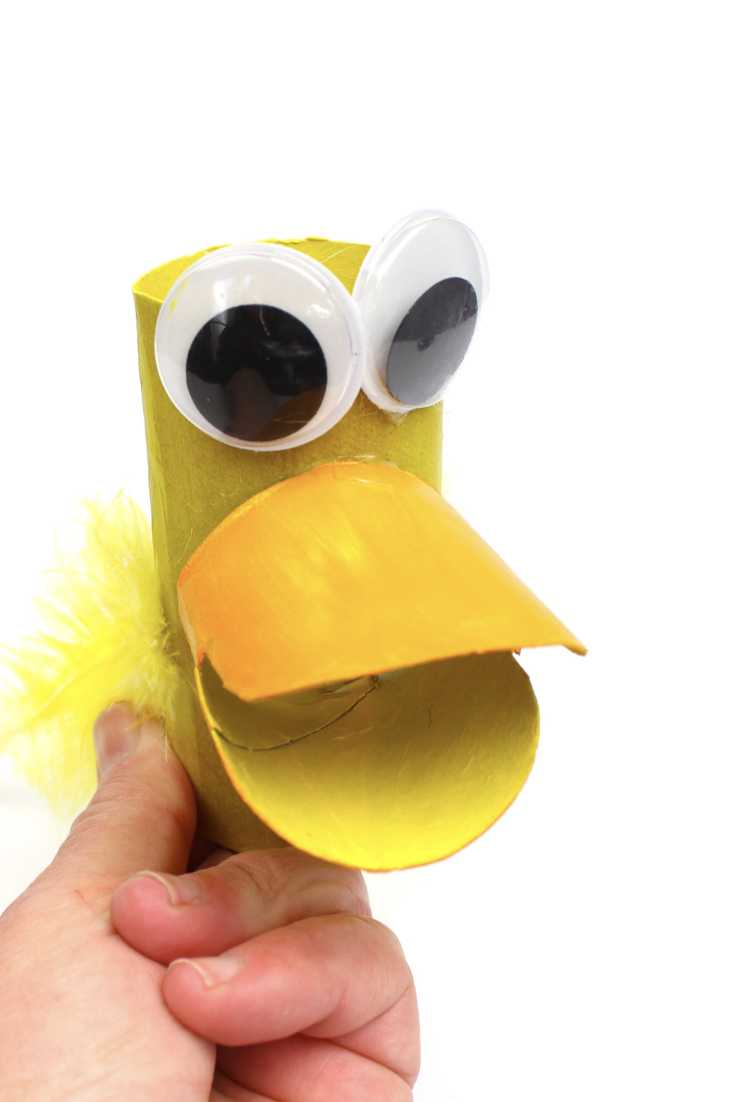 Make This Duck Puppet From A Cardboard Tube  Make Film Play-4659