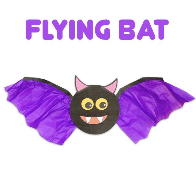 Here is a fun Halloween craft to make with the kids. Download the free template and watch the video to see how we assembled the bat. Then, take your bat outside for a fun flight in the breeze! #kidscrafts #halloween #papercrafts #bat #halloweencraftsforkids