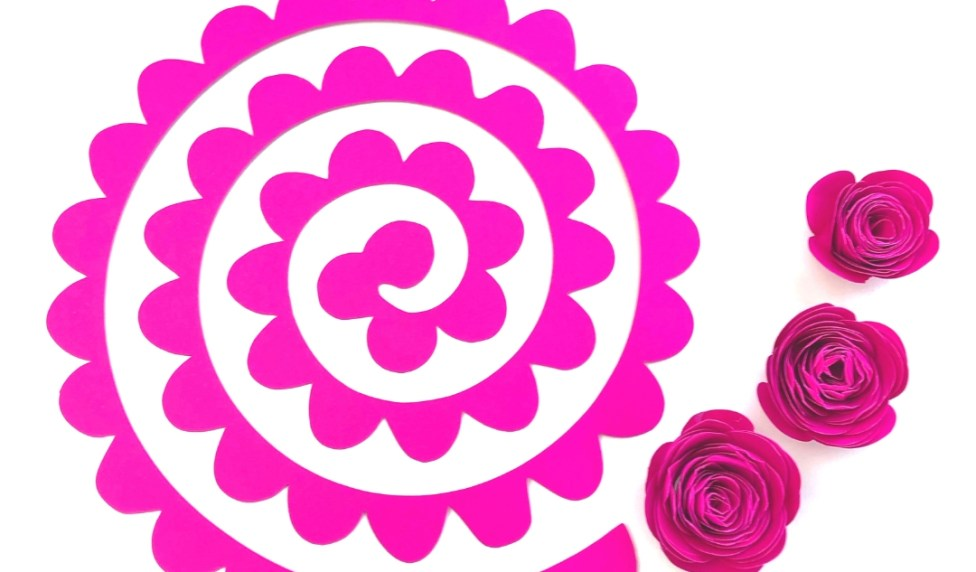 Download Free Papercraft Template: Free Rose Paper Flower Template Svg